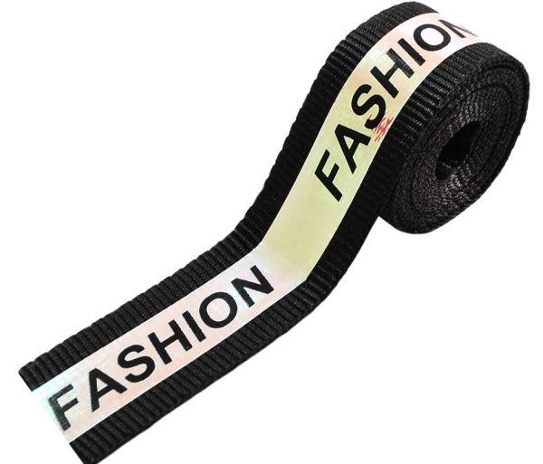 Тесьма тк. голографик Fashion, 2см, черная